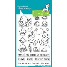 Lawn Fawn - ocean shell-fie - Clear Stamp 4x6