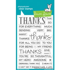 Lawn Fawn - thanks thanks thanks - Clear Stamp 4x6