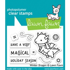 Lawn Fawn - winter dragon - Clear Stamp 2x3