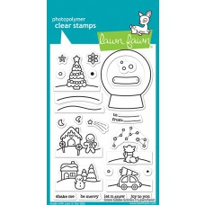 Lawn Fawn - snow globe scenes - Clear Stamp 4x6