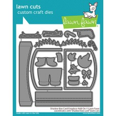 Lawn Fawn - shadow box card fireplace add-on - Stanzen