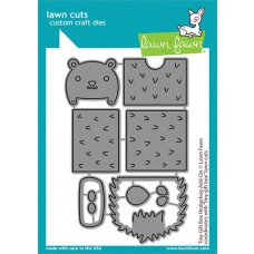 Lawn Fawn - tiny gift box hedgehog add-on - Stanzen
