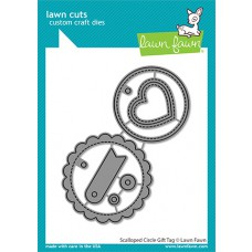 Lawn Fawn - scalloped circle gift tag - Stanzen