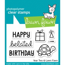 clear stamps lawn fawn year two soon für scrapbooking & cardmakings