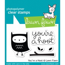 Lawn Fawn clear stamps your a hoot