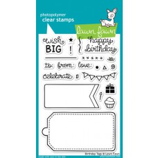 clear stamps lawn fawn birthday tags für scrapbooking & cardmakings