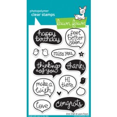 clear stamps lawn fawn Chit Chat für scrapbooking & cardmakings