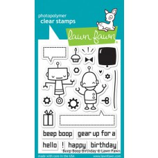 clear stamps lawn fawn Beep Boop Birthday für scrapbooking & cardmakings
