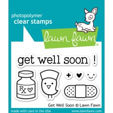 clear stamps lawn fawn get well soon für scrapbooking & cardmakings