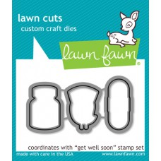 craft dies lawn fawn get well soon für scrapbook & cardmaking