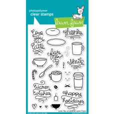 lawn fawn clear stamps love you a latte