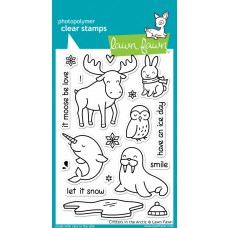 lawn fawn clear stamps critters in the arctic