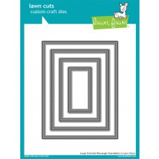 lawn fawn lawn cuts die Large Stitched Rectangle Stackables