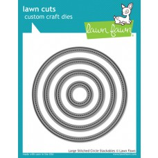 lawn fawn lawn cuts die large stitched circle stackables