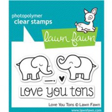clear stamp - lawn fawn - love you tons beispiel