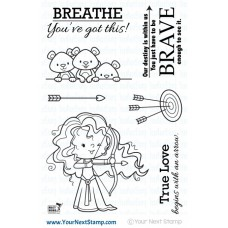 Your Next Stamp - Little Darling Archer - Clear Stamp Set 4x6