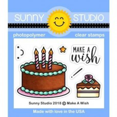 Sunny Studio - Make A Wish - Clear Stamps 2x3