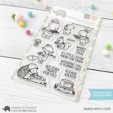 Mama Elephant - Baked with Love - Clear Stamp 4x6