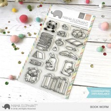 Mama Elephant - Book Worm - Clear Stamp 4x6