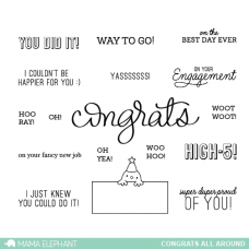 Mama Elephant - Congrats All Araound - Clear Stamp Set 4x6