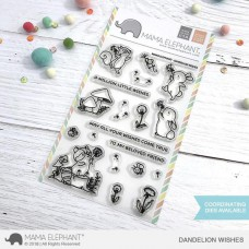 Mama Elephant - Dandelion Wishes - Clear Stamp 4x6