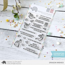 Mama Elephant - Dragon Wishes - Clear Stamp 4x6