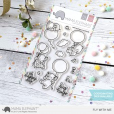 Mama Elephant - Fly With Me - Clear Stamp 4x6