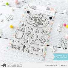 Mama Elephant - Gingerbread Cookies - Clear Stamp