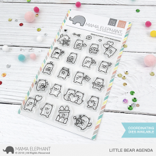 Mama Elephant - Little Bear Agenda - Clear Stamp 4x6