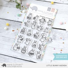 Mama Elephant - Little Bunny Agenda - Clear Stamp 4x6