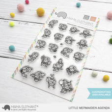 Mama Elephant - Little Mermaiden Agenda - Clear Stamp 4x6
