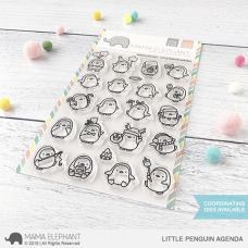 Mama Elephant - Little Penguin Agenda - Clear Stamp 4x6