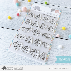Mama Elephant - Little Sloth Agenda - Clear Stamp 4x6