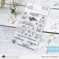 Mama Elephant - Picnic with Friends - Clear Stamp 4x6