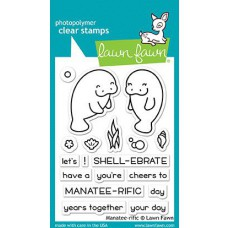 Lawn Fawn - Manatee-rific - Clear Stamps 3x4