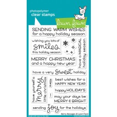 Lawn Fawn - Merry Messages - Clear Stamp 4x6