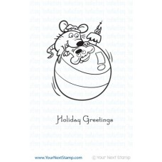 Your Next Stamp - Merry Mouse Ornament (Rubberstamp)