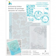Momenta Embossing Folders - Thank you Floral
