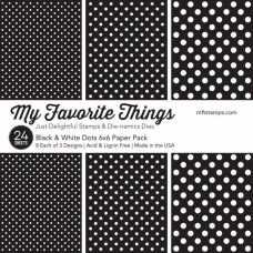 My Favorite Things - Black & White Dots - Paper Pad 6x6