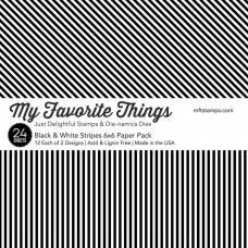 My Favorite Things - Black & White Stripes - Paper Pad 6x6