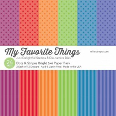 My Favorite Things - Dots & Stripes Bright - Paper Pad 6x6