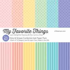 My Favorite Things - Dots & Stripes Confection - Paper Pad 6x6