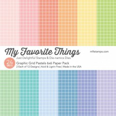My Favorite Things - Graphic Grids Pastels - Paper Pad 6x6