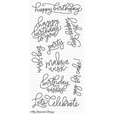 My Favorite Things - Handwritten Happiness - Clear Stamp 6x8