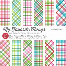 My Favorite Things - Plaid Patterns Merry & Bright Paper Pack - Paper Pad 6x6