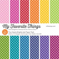 My Favorite Things - Tiny Hearts Brights - Paper Pad 6x6