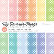 My Favorite Things - Tiny Hearts Pastels - Paper Pad 6x6