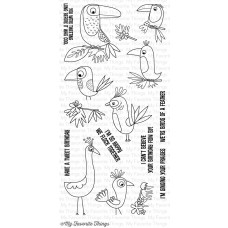 My Favorite Things Clearly Sentimental Stamps 4x8 - Birds Of Paradise