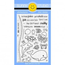 Sunny Studio - Oceans of Joy - Clear Stamps 4x6