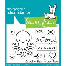 Lawn Fawn - Octopi My Heart - Clear Stamp 2x3